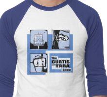 Curtis and Tara Show Blue Period Logo  Men's Baseball ¾ T-Shirt