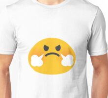 Steam coming out of nose emoji Unisex T-Shirt
