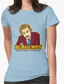 Ron Burgundy Womens Fitted T-Shirt
