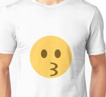 Kissing face emoji Unisex T-Shirt
