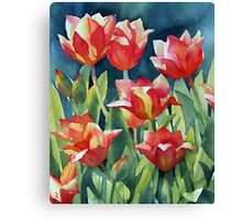 Sunlit Tulips enhanced Canvas Print