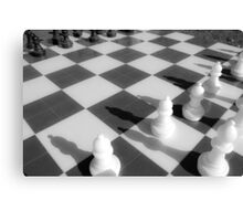 Chess game Canvas Print