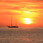 Sunrise on the Sea of Cortez by Roupen  Baker