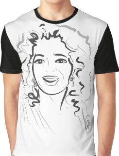 Portrait Oprah in line Graphic T-Shirt