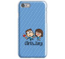 Curtis and Tara Show Stop Stabbing LOGO iPhone Case/Skin
