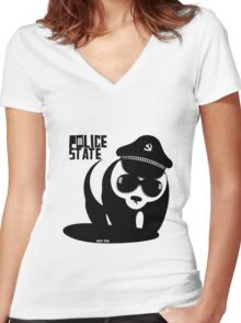 Police State Women's Fitted V-Neck T-Shirt