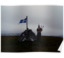 the lone piper of shetland Poster