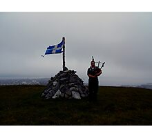 the lone piper of shetland Photographic Print