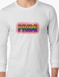 Rainbow PRIDE - Red Long Sleeve T-Shirt