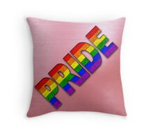 Rainbow PRIDE - Red Throw Pillow