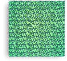 Cannabis / Hemp / 420 / Marijuana  - Pattern Canvas Print