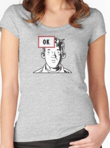 Ok Soda for light colors Women's Fitted Scoop T-Shirt