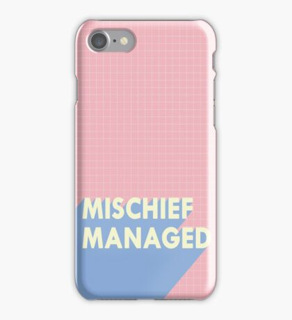 mischief managed.  iPhone Case/Skin