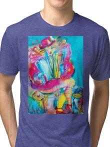ACCORDEON PLAYER IN THE NIGHT Tri-blend T-Shirt