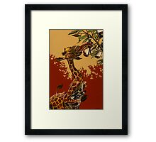 Wine Giraffe Framed Print