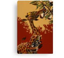 Wine Giraffe Canvas Print