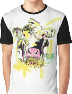 Cow Happy Graphic T-Shirt