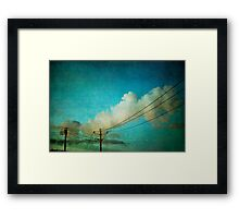 Late Evening Sky Framed Print