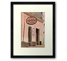 Old Ice Cream Shop Framed Print