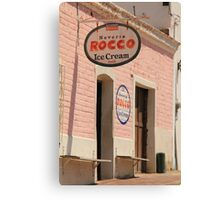 Old Ice Cream Shop Canvas Print