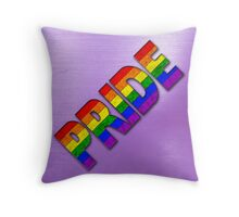 Rainbow PRIDE - Purple Throw Pillow