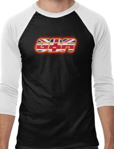 GBR - Great Britain - Flag Logo - Glowing Men's Baseball ¾ T-Shirt
