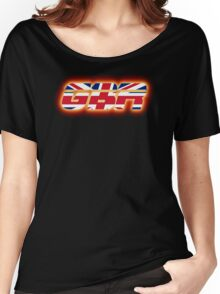 GBR - Great Britain - Flag Logo - Glowing Women's Relaxed Fit T-Shirt