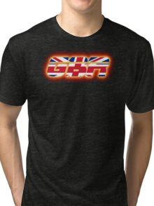 GBR - Great Britain - Flag Logo - Glowing Tri-blend T-Shirt