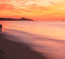 Fisherman at Daybreak by Roupen  Baker