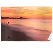 Fisherman at Daybreak Poster