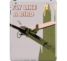 Vintage style Fly like a bird (aviation) iPad Case/Skin