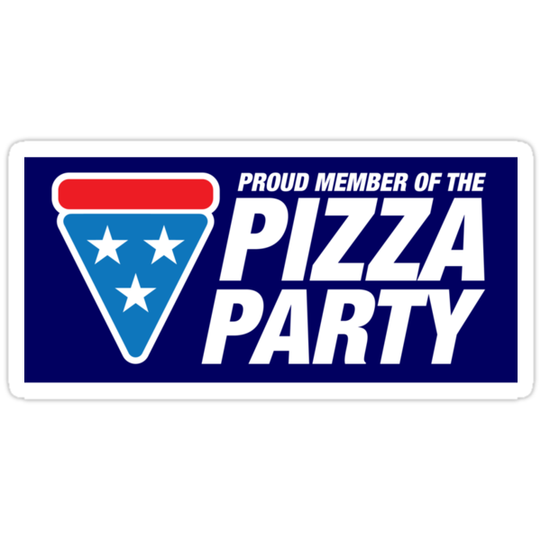 PIZZA PARTY (sticker) by DREWWISE