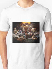 Cats play poker Unisex T-Shirt