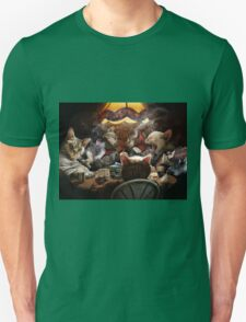 Cats play poker T-Shirt