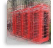 Red Phone Boxes, Cambridge Canvas Print