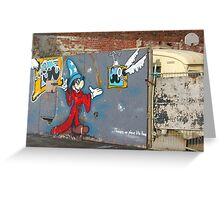 Mickey Mouse Graffiti Greeting Card