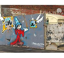 Mickey Mouse Graffiti Photographic Print