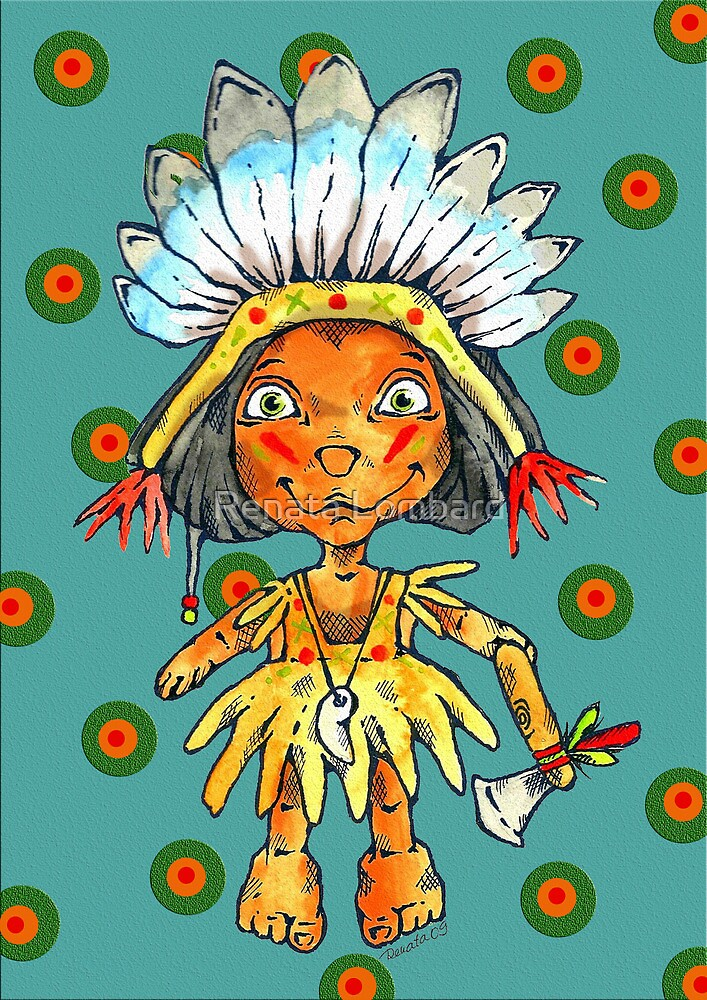 one little indian by Renata Lombard