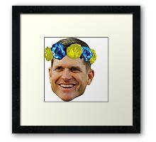 Harbaugh Flower Crown Framed Print