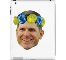 Harbaugh Flower Crown iPad Case/Skin