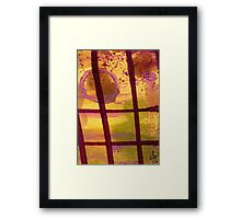 The Shadow Outside My Window Framed Print