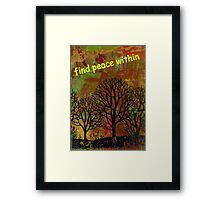 Finding Peace Framed Print