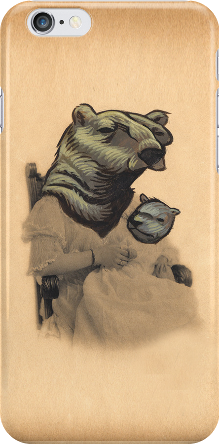Vintage Bear Lady and Cub by darickmaasen