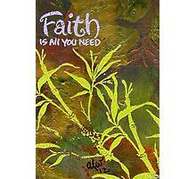 Having Faith Photographic Print