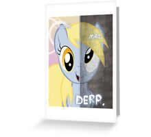 Two Sides - Derpy Greeting Card