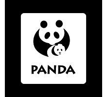 Panda Sign, China - Regular Version Photographic Print