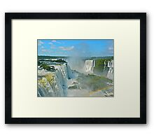 Mighty Iguazu Framed Print