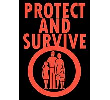 Protect And Survive Boy Photographic Print