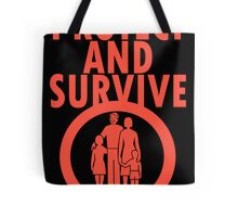 Protect And Survive Boy Tote Bag