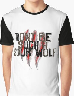 Don't be such a sour wolf Graphic T-Shirt